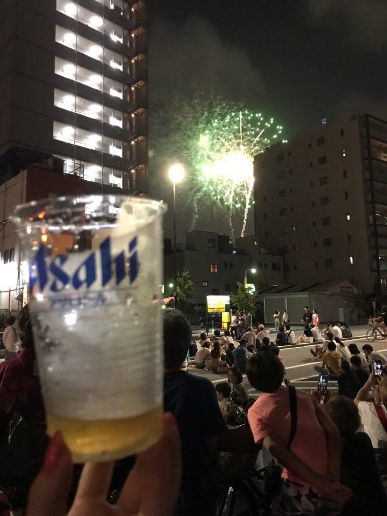 隅田川花火大会 生ビール